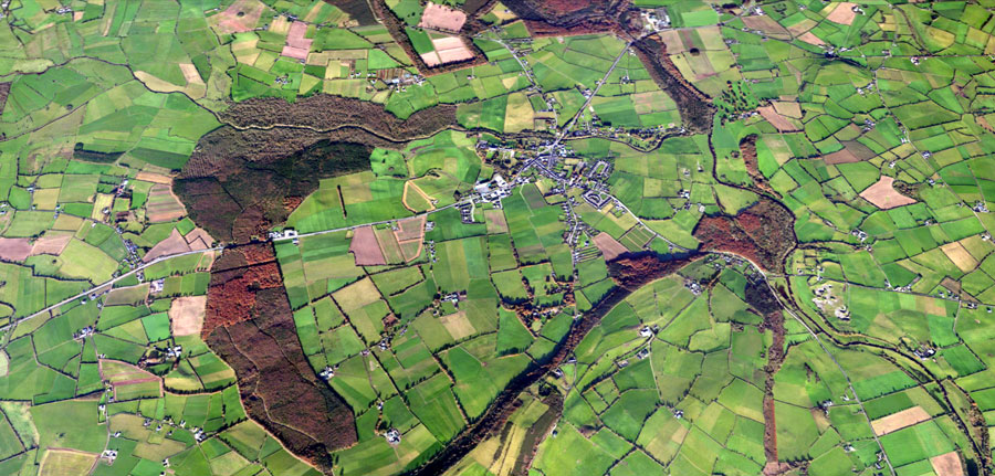 Aerial View of Durrow and Leafy Loop.