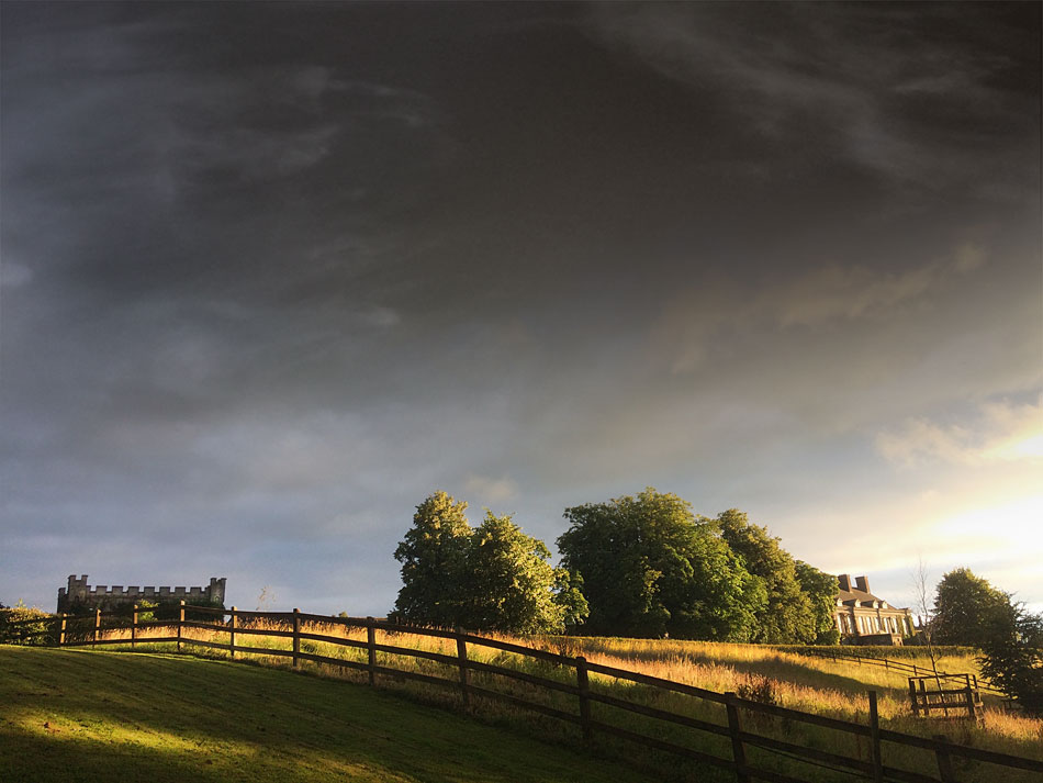 Sunset at Castle Durrow